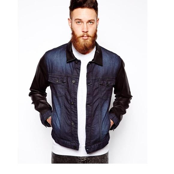 2658d8c478 ASOS Jackets & Coats | Sz L Dark Wash Denim Jacket | Poshmark